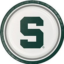 Michigan State University Plate - 9'' Dinner 8pk