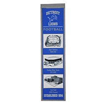 Detroit Lions Banner - Stadium Evolution 8'' x 32''