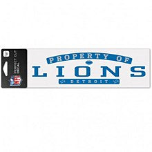 "Detroit Lions Decal - Perfect Cut 3"" x 10"""