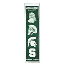 Michigan State University Banner - Michigan State Heritage Banner 32'' x 8''