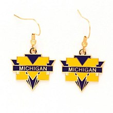 University of Michigan Earrings