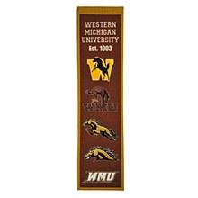 Western Michigan University Banner - Heritage 32'' x 8''