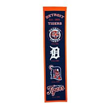 Detroit Tigers Banner - Tigers Heritage 32'' x 8''