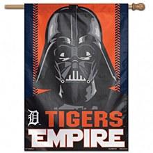 """Detroit Tigers Banner Flag Star Wars Darth Vader Vertical  28"""" x 40"""""""