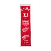 Detroit Red Wings Banner -  Heritage 32'' x 8''