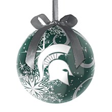 Michigan State University Decoupage Ball Ornament