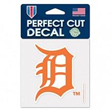 "Detroit Tigers Decal Perfect Cut Orange Color 4"" x 4"""