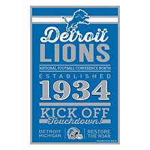 Detroit Lions Sign - Wood Lions Established 1934 11''X17''
