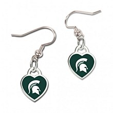 Michigan State University Heart Shaped Dangle earrings