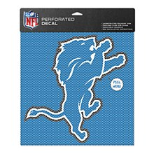 "Detroit Lions Perforated Vinyl Decal 12"" x 12"""