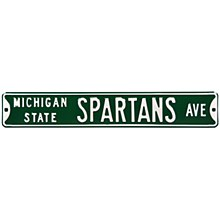 Michigan State University Sign - Spartans Ave Steel Sign 6''x36''