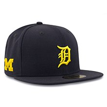 New Era Detroit Tigers Navy 59Fifty Michigan Wolverines Co-Branded Fitted Cap