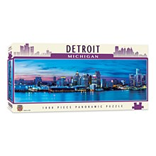 Detroit City 1000pc Panoramic Jigsaw Puzzle