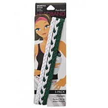 Michigan State Pom Braid 3pk Green/White