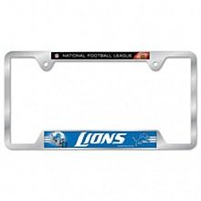 Detroit Lions License Plate Frame - Metal 6'' x 12''