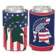 Michigan State University Coozie - Stars & Stripes 12oz Can Cooler