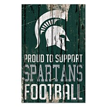 Michigan State University Sign - Spartans Proud Supporter Sign 11''x17''