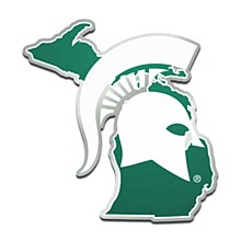Michigan State University Emblem - Acrylic State Shape Auto Emblem