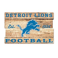 Detroit Lions Sign - Wood Sign 19''x30''