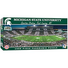 Michigan State Puzzle - Staadium Panoramic 1000pc Jigsaw Puzzle 13'' x 39''