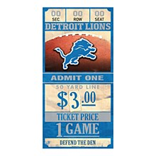 Detroit Lions Sign - Wood Ticket Sign 6''x12''