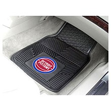 Detroit Pistons Car Mat - Heavy Duty Vinyl 17'' x 27''