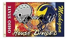 Michigan - Ohio St. 3 Ft. X 5 Ft. Flag W/Grommets - Helmet House Divided