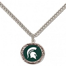Michigan State University Necklace With Charm