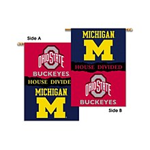 Michigan/ohio State House Divided 28''x40'' Banner