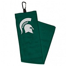 Michigan State University Golf Towel with carabiner