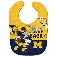 University of Michigan Baby Bib Mickey Mouse All Pro Football