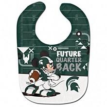 Michigan State University Baby Bib Mickey Mouse Football