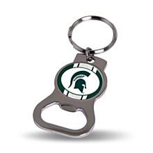 Michigan State University Bottle Opener Keychain