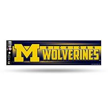 University of Michigan Bumper Strip Bling Sticker