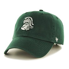 Michigan State University Hat - Clean up Gruff Sparty Logo Dark Green