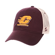 Central Michigan University Standard (Low) (RACING C) Maroon Washed Adjustable Hat by Zephyr