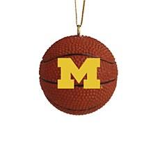 University of Michigan 3pk Basketball Ornament