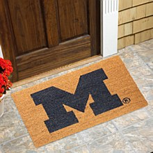 University of Michigan Wolverines Logo 20'' x 30'' Coir Doormat