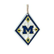 University of Michigan Art Glass Ornament
