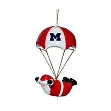 University of Michigan Skydiving Santa Ornament
