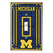 University of Michigan Art Glass Switch Cover