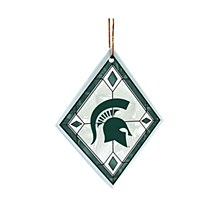 Michigan State University S- Art Glass Ornament