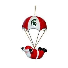 Michigan State University Skydiving Santa Ornament