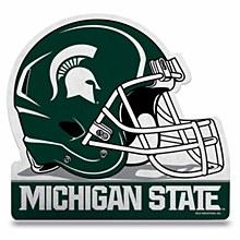 Michigan State Spartans Die Cut Football Helmet Pennant