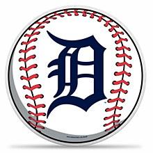 """Detroit Tigers """"D"""" Logo Baseball Die Cut Pennant"""