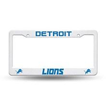 Detroit Lions License Plate Frame Plastic
