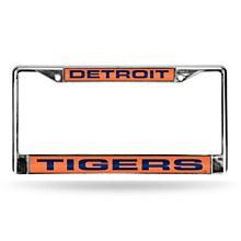 Detroit Tigers License Plate Frame Laser Chrome