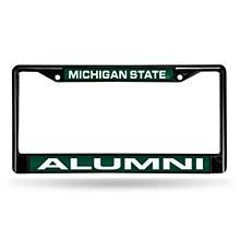 Michigan State Spartans Black Laser Chrome 12 x 6 License Plate Frame