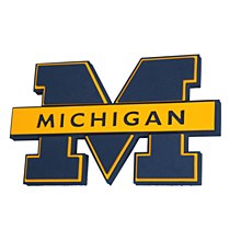 University of Michigan Sign - Wolverines 3D Foam Wall Sign