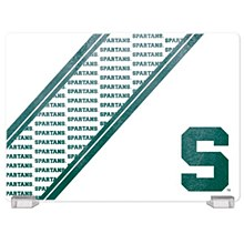 Michigan State Tempered Glass Cutting Board